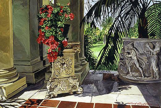 Huntington Loggia Azaleas by David Lloyd Glover