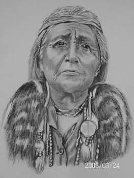 Hupa Woman by Wanda Edwards