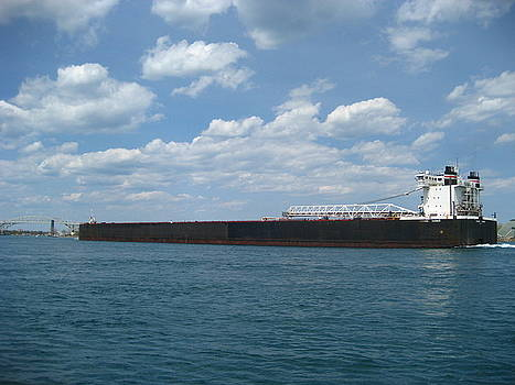 Huron Freighter by Sheryl Burns