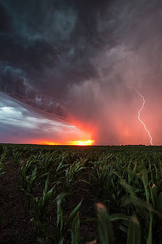 Huron Lightning  by Aaron J Groen