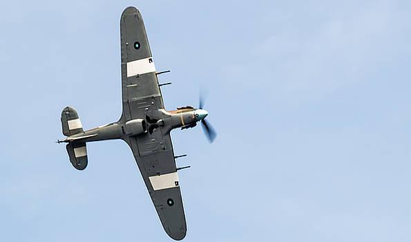 Hurricane From Below Sunderland Air Show 2014 by Scott Lyons