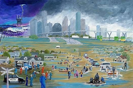 Hurricane Harvey by Marilyn Jacobson