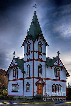 Husavik Church Iceland by Chris Thaxter