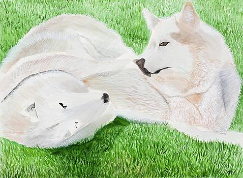 Husky bonding by Marcella Morse