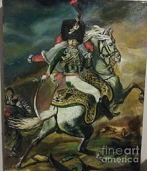 Hussar-Napoleonic Elite Calavary Officer Circa 1812 by Jude Darrien