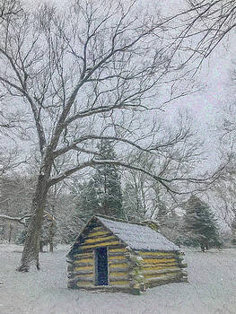 Hut in the Snow Storm by Jeff Oates Photography