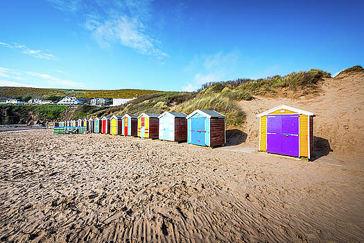 Huts on a beach by Svetlana Sewell