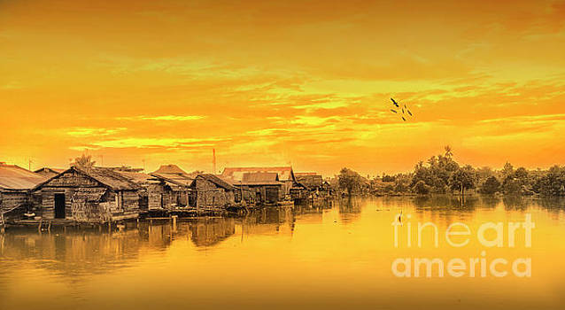 Huts Yellow by Charuhas Images