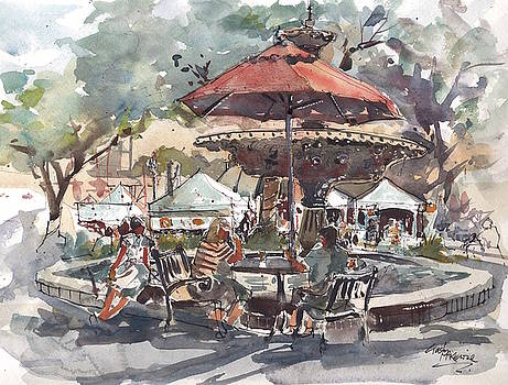 Hyde Park Market Plein Air by Gaston McKenzie