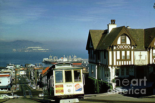 Hyde Street Cable Car on a Steep Incline, 1960, 1960's by Wernher Krutein