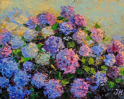 Hydrangea abstract style. by Julia Utiasheva