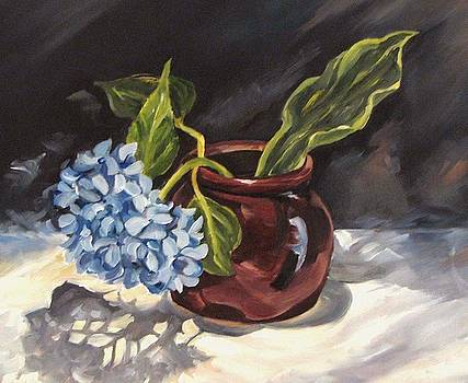 Hydrangea in a Bean Pot by Cheryl Pass