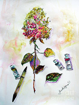 Ginette Callaway - Hydrangea Still Life with Objects