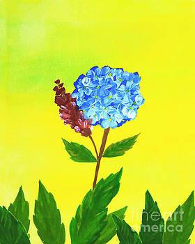 Hydrangea Watercolor by Rasirote Buakeeree