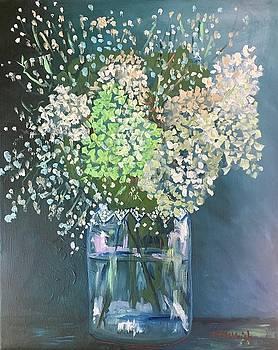 Hydrangeas and Baby's Breath by Marita McVeigh