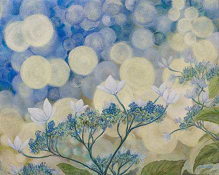 Hydrangeas in Bokeh by Karen Forsyth