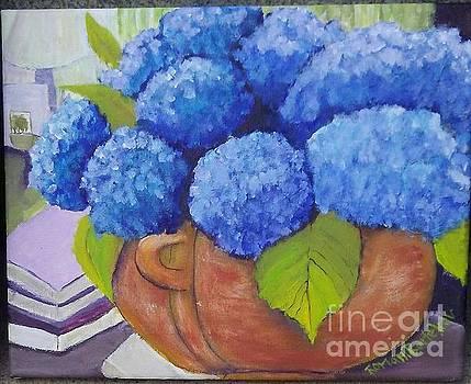 Hydrangeas for Mother by Romani Berlekov
