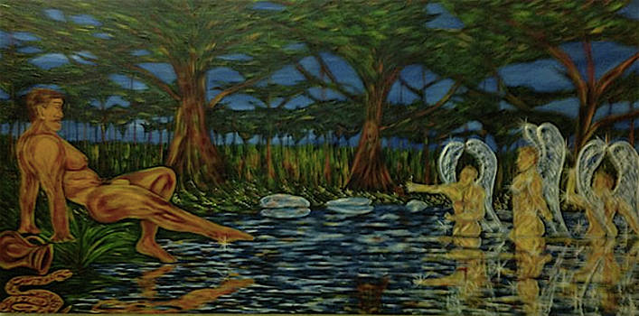 Hylas and the Water Nymphs by Claude Edwin Theriault