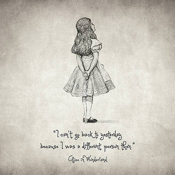 I can't go back to yesterday Quote by Taylan Apukovska