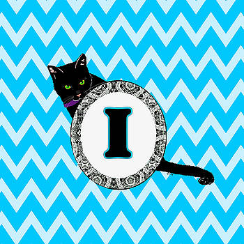I Cat Chevron Monogram by Paintings by Gretzky