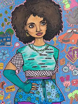 Image result for afro painting don't care