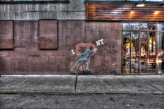 I Heart NY Street Art Mural by Randy Aveille
