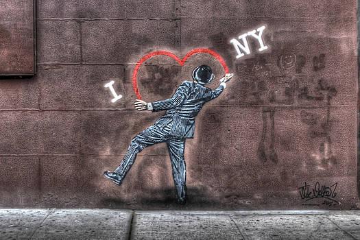 I Heart NY Street Art Zoomed In by Randy Aveille