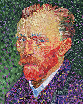 I Heart Van Gogh Portrait Of Vincent by Randal Huiskens