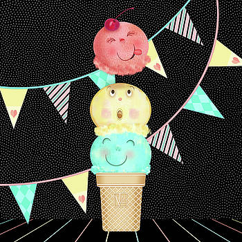 I is for Ice Cream Cone by Valerie Drake Lesiak