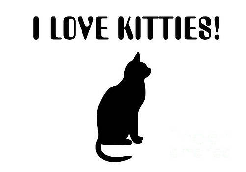 Andee Design - I Love Kitties In Black
