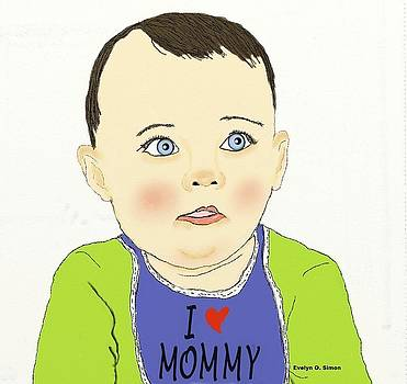 I love mommy by Evelyn O Simon
