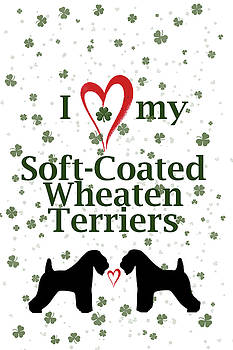 I love my Soft Coated Wheaten Terriers by Rebecca Cozart