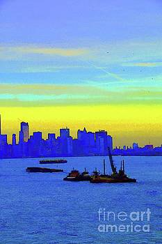 Robyn King - I Love New York Sunset Digital Painting