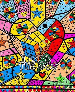 i love the 80s Popart by Nico Bielow by Nico Bielow