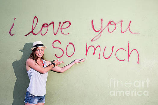Herronstock Prints - I love you so much mural is an iconic part of South Congress Soco culture