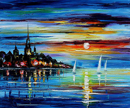 I Saw A Dream - PALETTE KNIFE Oil Painting On Canvas By Leonid Afremov by Leonid Afremov