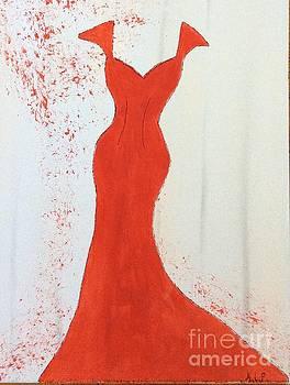 I wear red by Nancy Pace