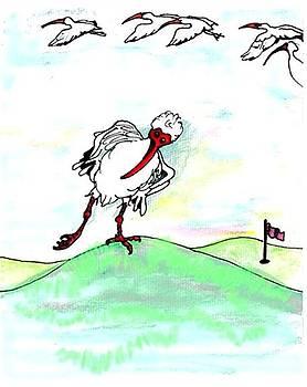 Ibis hates leg by Carol Allen Anfinsen