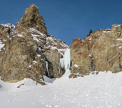Ice climb called Preacher rated WI5 near Sun Valley Idaho by Elijah Weber