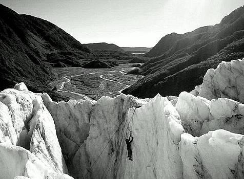 Ice climber - Franz Josef New Zealand by Keira MacVinish