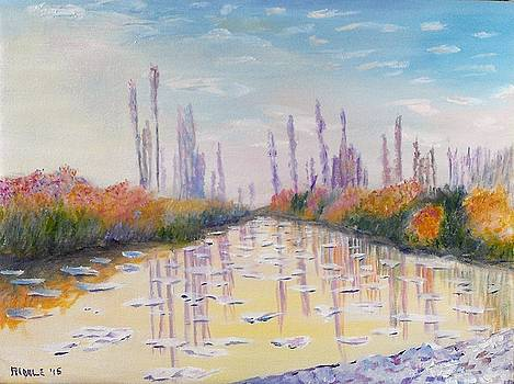 Ice Floes after Monet by Jack Riddle