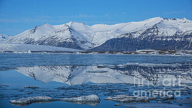 Ice lagoon Reflections Iceland by Chris Thaxter