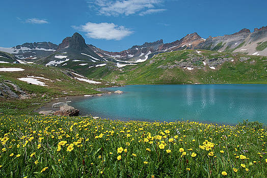 Ice Lake Summer Landscape by Cascade Colors