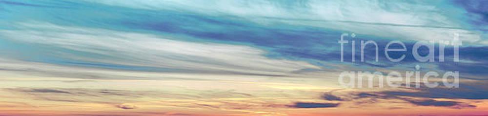 Ice Magic Sunset Panoramic by John Scatcherd