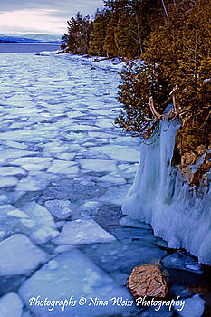 Ice on the Lake - Fine Art Christmas Gift by Nina Weiss