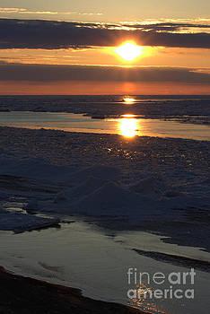 Ice Reflection Sky 10 by John Scatcherd