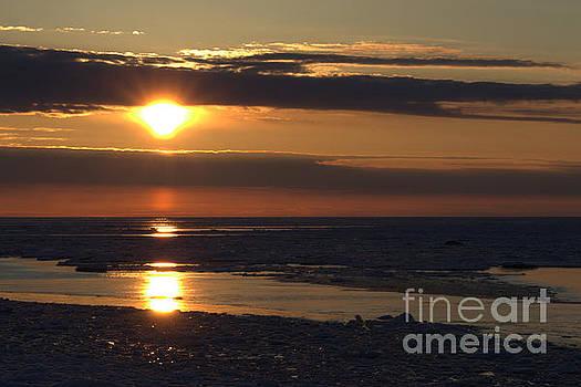 Ice Reflection Sky 11 by John Scatcherd
