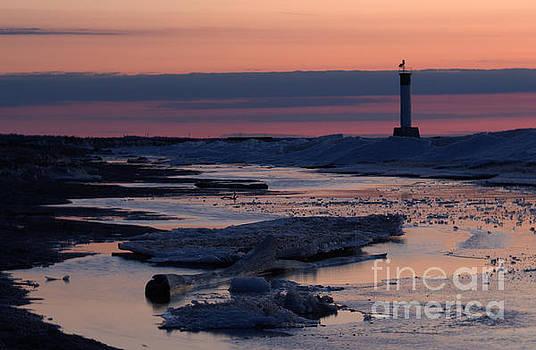 Ice Reflection Sky 3 by John Scatcherd