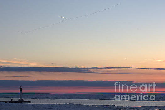 Ice Reflection Sky 5 by John Scatcherd