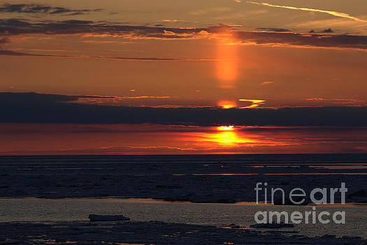 Ice Reflection Sky 6 by John Scatcherd